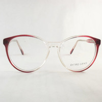 Big Round Womens Eyeglasses, Vintage Burgundy Wine Frames, Cranberry Red Preppy Glasses, Makes great Sunglasses