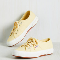 Active Kindness Sneaker in Buttercream | Mod Retro Vintage Flats | ModCloth.com