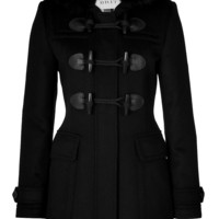 Burberry Brit - Wool Blackwell Duffle Coat with Fox Fur