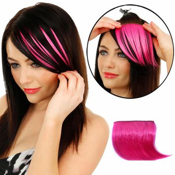 2017 Clips Hair Styling Pretty Girls Clip On Clip In Front Hair Bang Fringe Hair Extension Straight Synthetic Hair Piece Thin