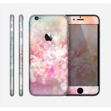 The Unfocused Pink Abstract Lights Skin for the Apple iPhone 6