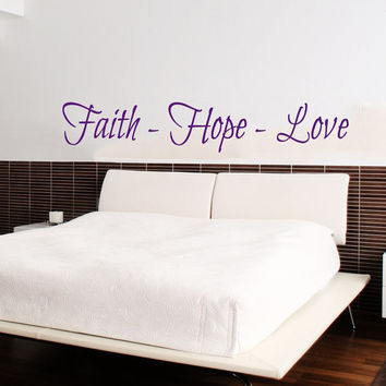 Family Wall Decal Quote Faith Hope Love Bible Verses Art Mural Psalms Vinyl Stickers Bedroom Bohemian Decor Living Room Design Interior KY98