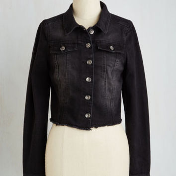 Vintage Inspired Short Length Accentuate the Edgy Jacket