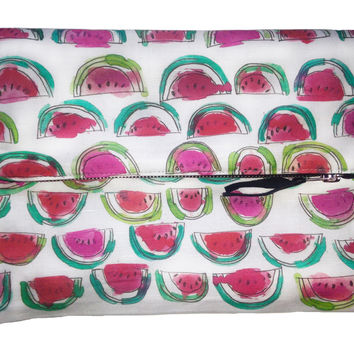 Watermelon Foldover Clutch