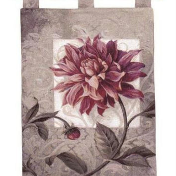 Wall Tapestry - Red Dahlia Motif