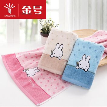 100% cotton towel lovely miffy rabbit dot dot design simple fashion soft and comfortable fashion is generous