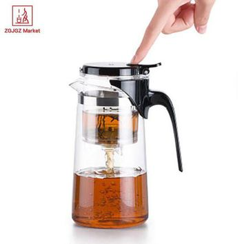 DCCKFS2 Samadoyo Handmade Drift Tea Pot Heat Resistant Borosilicate Glass Teapot Kung Fu Tea Set with Infuser SAG10 750ml Mug Tea Cup