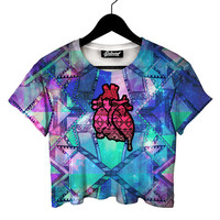 Aztec Heart Crop Tee