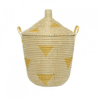 Yellow Teepee Basket