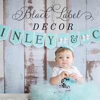 Name of Bride & Co. Banner / Name of birthday girl and co/Classy / Bride/ Birthday / Engagement Party/ Baby shower / TIFFANY and CO INSPIRED