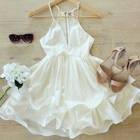Fashion Ladies Summer V-NECK Sleeveless Party Evening Cocktail Short Sun Dress