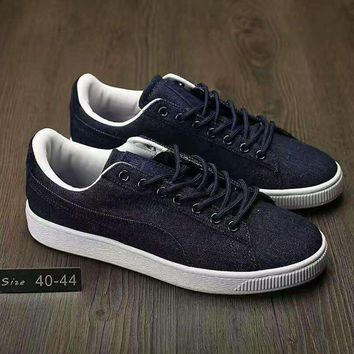 fashion puma man cowboy casual running sport shoes sneakers navy g ahxf qf  number 1