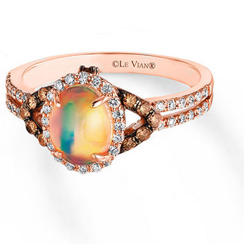 Le Vian Opal Ring 3/8 ct tw Diamonds 14K Strawberry Gold