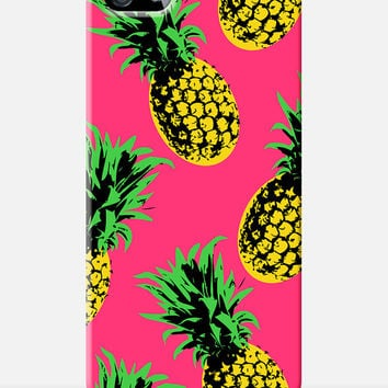 PINEAPPLE iphone 5 case, pineapple case, fruit iphone case, tropical pattern iphone 5 case, 90s, pop art iphone 5 case, iphone 4 fruit print