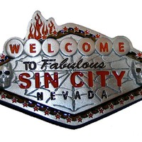 Welcome To Sin City Las Vegas Belt Buckle