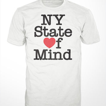 NY State of Mind T-Shirt - I love NY, NYC, Nas, illmatic, I heart, it was writen, stillmatic, brooklyn, queensbridge, hip hop, real, music