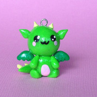 Kawaii Polymer Clay Dragon Charm