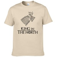 Game of Thrones T Shirt Men Tshirt 2016 New Cool The North Remembers Blood Wolf T-shirt Men's Tee Shirts Camisetas #077