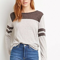 Heathered Varsity Stripe Top
