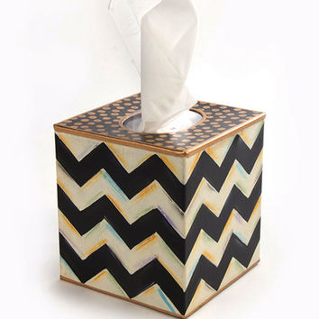 MacKenzie-Childs Zig Zag Tissue Box Cover