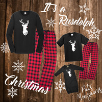 Reindeer Family Christmas Pajamas - Matching PJ's for the whole family!!