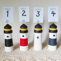 Lighthouse Table Number, Beach Wedding Table Number, Nautical Table Number, Wedding Table Number, Wedding decor, Wedding decoration,