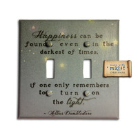 Harry Potter Inspired Turn On The Light Double Switch by mwithm