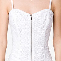 Eyelet Embroidered Bustier