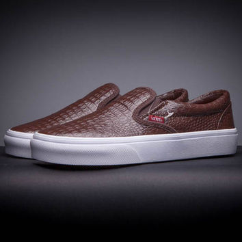 Trendsetter VANS Slip-On Leather Old Skool Flats Sneakers Sport Shoes