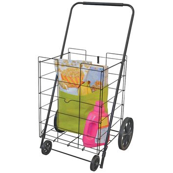 Faucet Queens® 39520FD Deluxe Folding Laundry/Shopping Cart with 4 Wheels