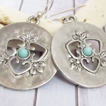 Silver Disc Gypsy Earrings
