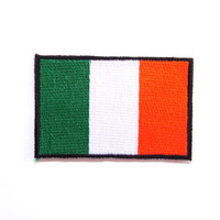 Ireland Flag Medium Iron on Patch, embroidery