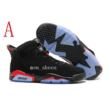 Air Jordan 6s Basketball Shoes Men 6s Carmine Infrared 6s Blue Olympic Slam Dunk Oreo Athletics Sports Shoes With Box