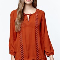 Volcom Highway Child Tunic Top - Womens Shirts - Copper/Rust