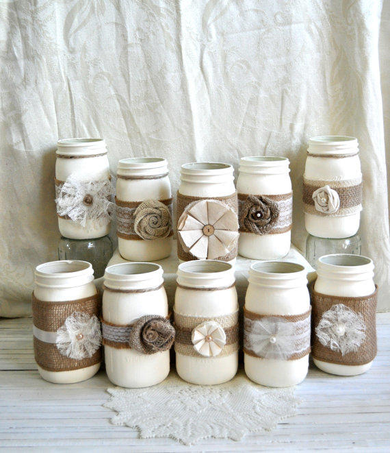 set of 10 mason jars bulk rustic country from inhalelove on etsy