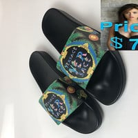 Legit Cheap 2018 Womens Versace Multi Shower ver sace Sandal black-green sneaker