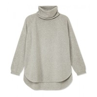 Chloé High Low Turtleneck Sweater - Grey Knit Sweater - ShopBAZAAR
