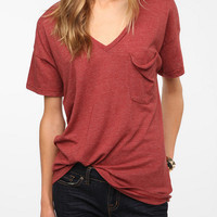 Truly Madly Deeply V-Neck Pocket Tee