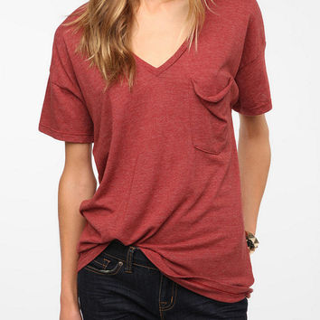 Urban Outfitters - Truly Madly Deeply V-Neck Pocket Tee
