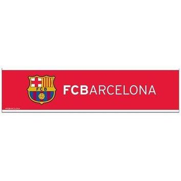 """Licensed Fc Barcelona Official SOC 12"""" x 3"""" Bumper Sticker Strip Decal by Wincraft 568601 KO_19_1"""