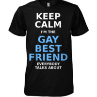 Funny Gay Pride adult unisex t-shirt - Keep Calm im the gay best friend