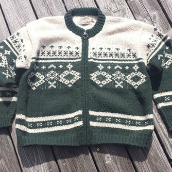 Vintage Rev Wear UGLY SWEATER - Wool - Made in Bolivia - M / L