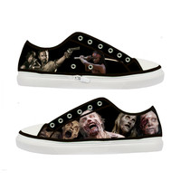 The Walking Dead Zombie woman canvas shoes - Size : US 9 EUR 40 Black