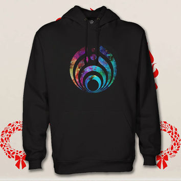 bassnectar logo hoodie. pullover. sweatshirt. sweater. color black white green blue gray red for size s - 3xl