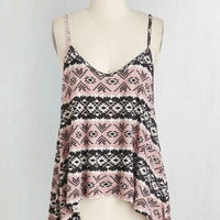 Boho Mid-length Spaghetti Straps Groove Got it Rad Top