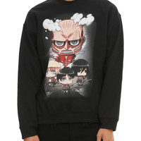 Attack On Titan Chibi Crew Pullover