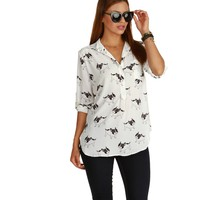 Promo- White Frenchie Blouse