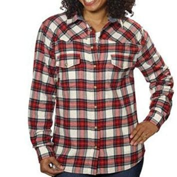 Jachs Girlfriend Plaid Womens Light Flannel Shirt