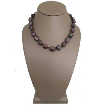 Chocolate Baroque Freshwater Pearl Necklace