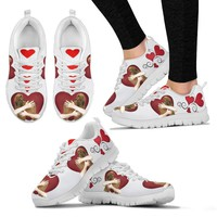 Valentine's Day Special-Afghan Hound in heart Print Running Shoes For Women-Free Shipping